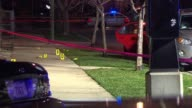 WGN Crime Scene With Crime Tape And Evidence Markers on December 10 2012 in Chicago Illinois