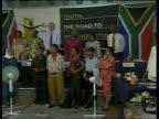 Crime/Politics Winnie Mandela POOL INT Mother of Stompie up to Winnie Mandela Archbishop Tutu watching Commission in hearing People in audience Tutu...