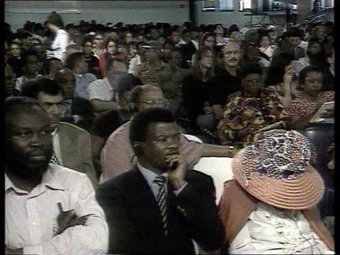 Crime/Politics Winnie Mandela POOL S AFRICA Johannesburg GV Truth Reconciliation Commission in session CMS Winnie Mandela seated CMS Archbishop...