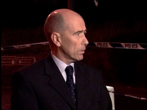 Crime/Terrorism Catholic man shot dead Detective Superintendent Roy Suitter speaks to press SOT it's the usual catalogue of mayhem in North Belfast...
