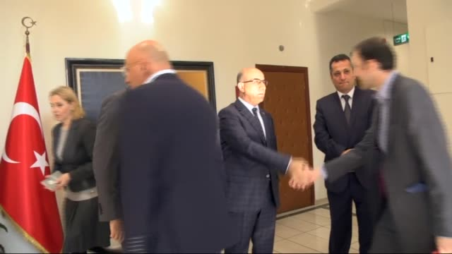 Crispin Blunt chairman of the British Commons Foreign Affairs committee and his accompanying delegation visit Adana Governor Mahmut Demirtas in Adana...