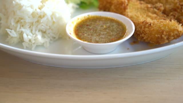 crispy fish with rice