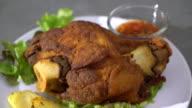 Crispy pork knuckle or German Pork Hocks