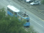 Croatia: Zagreb City Tram from Above, Pull