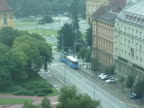 Croatia: Zagreb Tram from Above, Pull