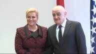 Croatian President Kolinda Grabar Kitarovic attends meetings with Prime Minister of Bosnia and Herzegovina Vjekoslav Bevanda and delegates of the...