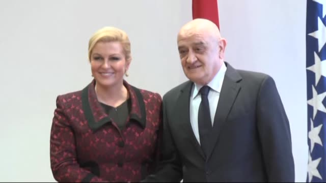Croatian President Kolinda Grabar Kitarovic attends meetings with Prime Minister of Bosnia and Herzegovina Vjekoslav Bevanda and delegates of the...