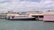 WS PAN Cross Harbor Ferry departing from Old San Juan Pier, San Juan, Puerto Rico, USA