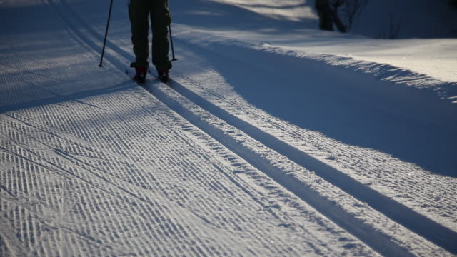 Cross-country skiing tracks