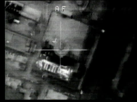 Crosshairs targeting a bunker and target exploding / Kuwait