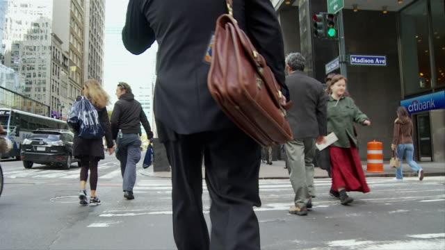 POV Crossing street in Manhattan / New York City, New York, USA