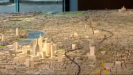 London Mayor Boris Johnson unveils station designs ENGLAND London INT Various shots of model showing route of new Crossrail link across London...