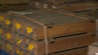 Thousands of soil and rock cores from beneath London stored at facility in Cheshire Cheshire Winsford John Davis interview SOT Boxes of rock and soil...