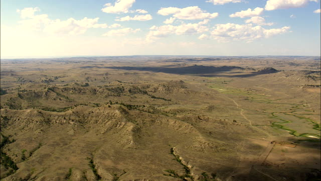 Crow Indian Reservation - Aerial View - Montana, Big Horn County, United States