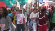 Crowd after start at the 12th Annual EIF Revlon Run/Walk for Women in New York City at New York NY