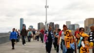 Crowd arrives for the Round 1 AFL match between the Hawthorn Hawks and Geelong Cats at the Melbourne Cricket Ground AFL Rd 1 Hawthorn v Geelong at...
