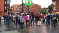 WGN Crowd At Marriage Equality Rally on June 01 2013 in Chicago Illinois