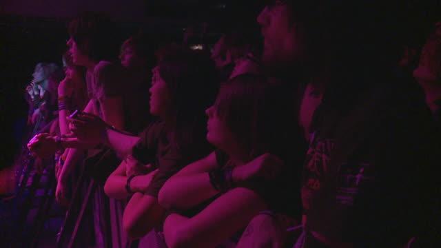SLO MO MS Crowd at rock concert / London, United Kingdom