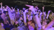 SLO MO MS Crowd at rock concert / London, United Kingdom