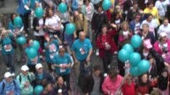 Crowd at the 12th Annual EIF Revlon Run/Walk for Women in New York City at New York NY