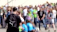 Crowd blured