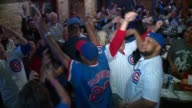 WGN Crowd Cheers in a Bar While Watching Chicago Cubs Play in 2015 Wild Card Game in Chicago on October 7 2015