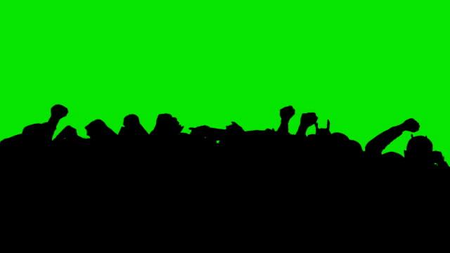 Crowd Dancing - green screen. HD
