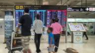 Drängen Sie sich im terminal, Fluginformationen auf Abreise Informationen Schild