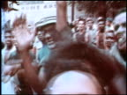 Crowd of African Americans shouting cheering and grabbing at camera Crowd of African Americans shouting and cheering on January 01 1968