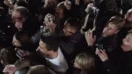 MS HA PAN Crowd of fans cheering and taking photographs / Provo,Utah,USA