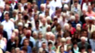 Crowd of people - blurred effect added