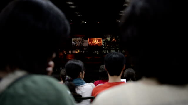 Crowd of people waiting for performance show