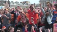 A crowd of some 45000 supporters celebrated the Netherlands 21 win over Mexico to qualify for the World Cup quarter finals