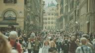 Gruppe von Touristen in Florenz, Italien