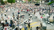 Crowd on Shibuya crossing Japan