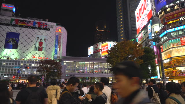 Menge Menschen in Shibuya in Tokio, Japan