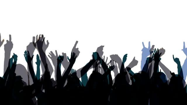 silhouette di folla