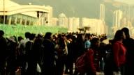 Crowd Tourist At Hong Kong Viewpoint