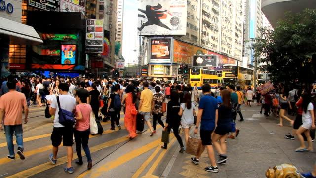 Crowd Walking On Crosswalk