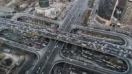 T/L WS HA ZO Crowded City Traffic / Beijing, China