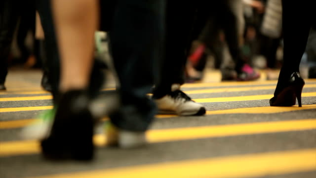 Crowded Pedestrian on Crosswalk
