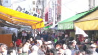 Crowded people at Tsukiji Fish Market
