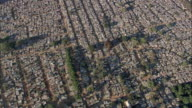 AERIAL WS Crowded residential district, Johannesburg, Gauteng, South Africa