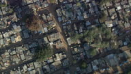 AERIAL WS ZO Crowded residential district, Johannesburg, Gauteng, South Africa