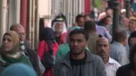 Crowded Sidewalk, Ramallah, Palestine