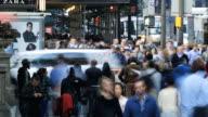 Crowded Sidewalk - time lapse