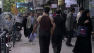 MS Crowded street, Tehran, Iran