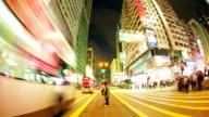 Überfüllten Verkehr in der Innenstadt, Hongkong china