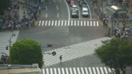 HA Crowds and traffic on Hachiko Crossing, Shibuya / Tokyo, Japan