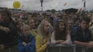 Crowds at Glastonbury Festival General Views at Glastonbury Festival Site on June 27 2014 in Glastonbury England
